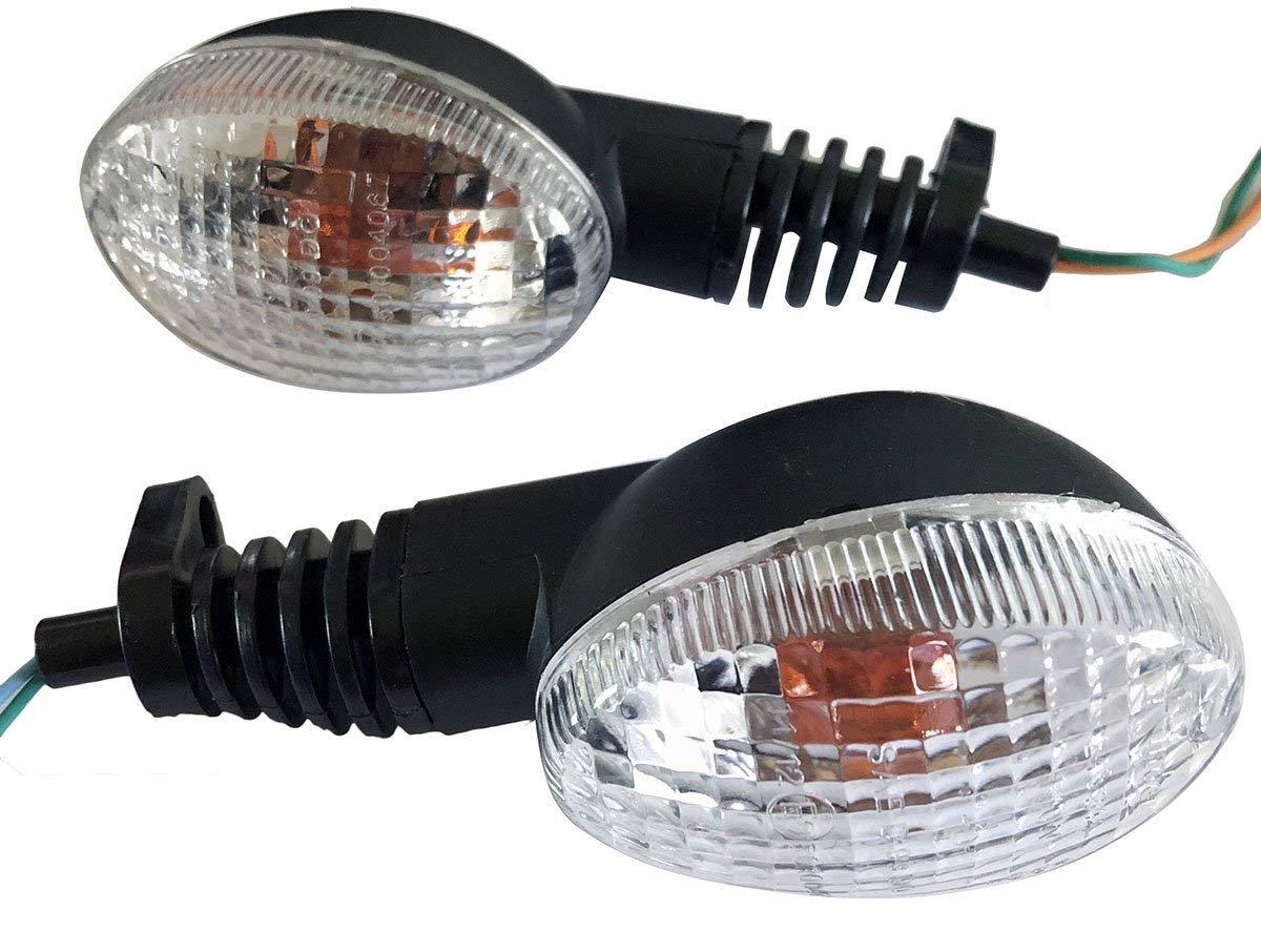 Turn Signals Indicators Blinkers Lights Lamp Fits Metric Cruisers Sport Bikes Choppers Harley Davidsons Suzuki Honda Kawasaki Yamaha 0.4 Rzmmotor 2pcs 12V 2 Wire Mini Stalk Arrow Motorcycle 10mm