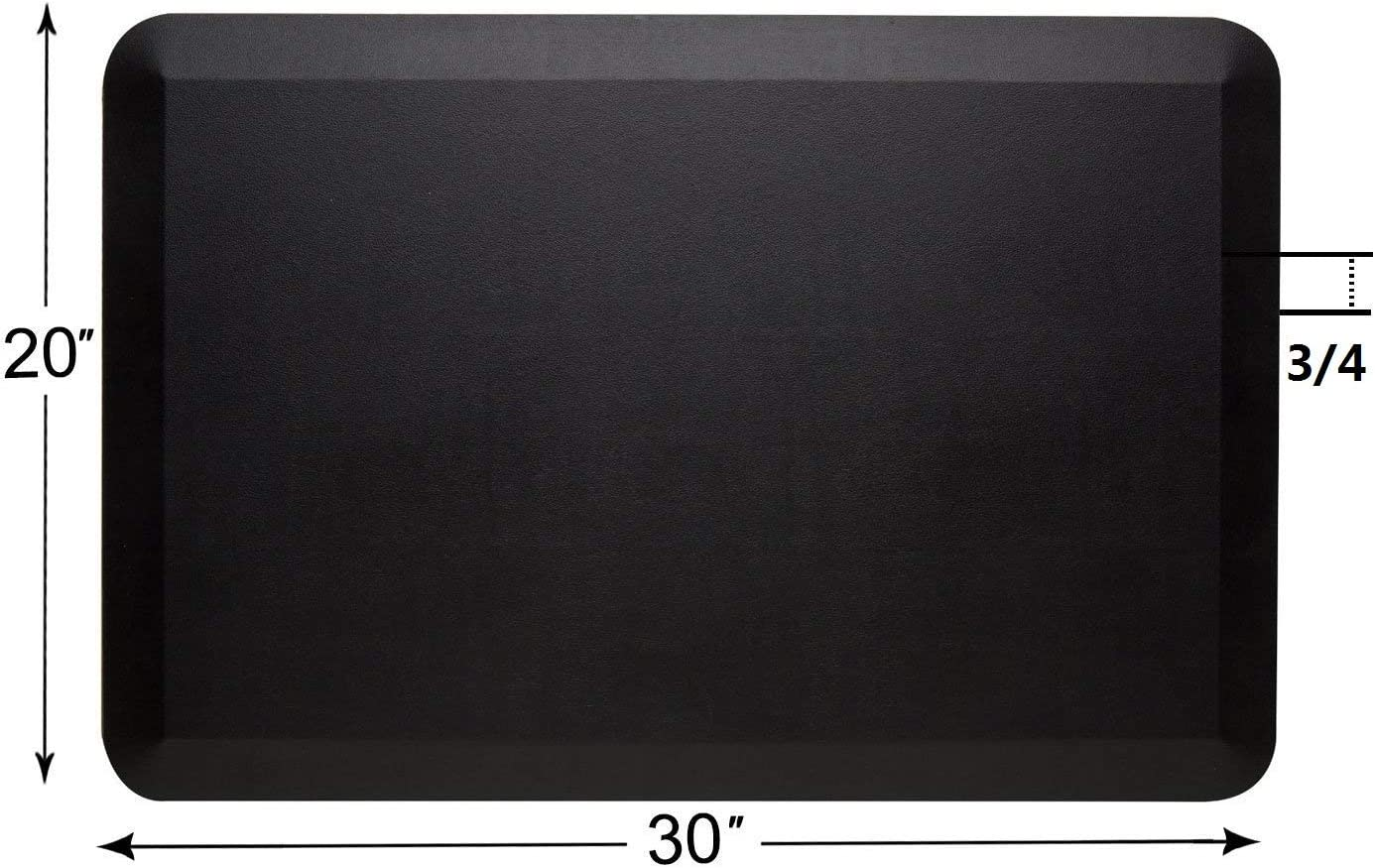 Amcomfy Anti Fatigue Mat Comfort Standing Mat for Kitchen and Office (20 x 30 x 3/4 Inches, black)