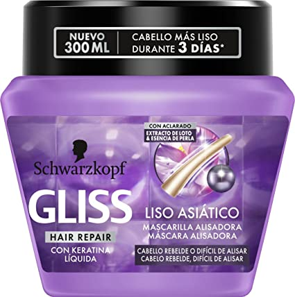 Gliss - Mascarilla Liso Asiático - 300 ml