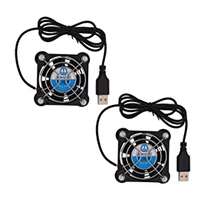 WINSINN 60mm USB Fan 5V Brushless 6025 60x25mm for Cooling DIY PC Computer Case CPU Coolers Radiators (Pack of 2Pcs)