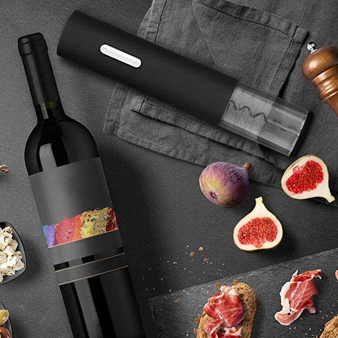Amazon.com: GHB Electric Wine Opener with Automatic Corkscrew and Foil Remover for Bottles: Kitchen & Dining