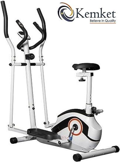 Ultra-Sport combinación Premium 2-en-1 elíptica y bicicleta estática magnética Fitness Cardio con 4kgs