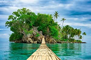 3D Wallpaper High Resolution, A beautiful tropical island view - XXXL Size