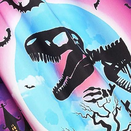 Reooly Moda Halloween Mujeres Retro Palabra Hombro murciélago ...