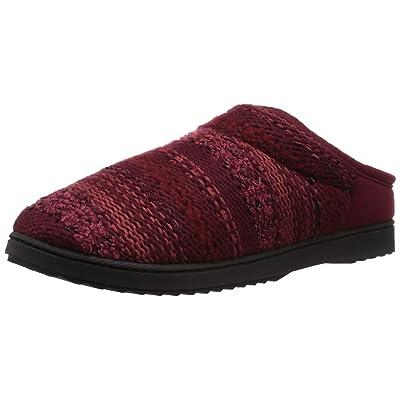 Amazon.com | Dearfoams Women's Knit Clog Slipper, Cabernet, S Regular US | Mules & Clogs