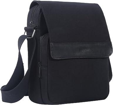 New Men Black Canvas Crossbody Bag School Satchel Messenger Shoulder Zipper Bag
