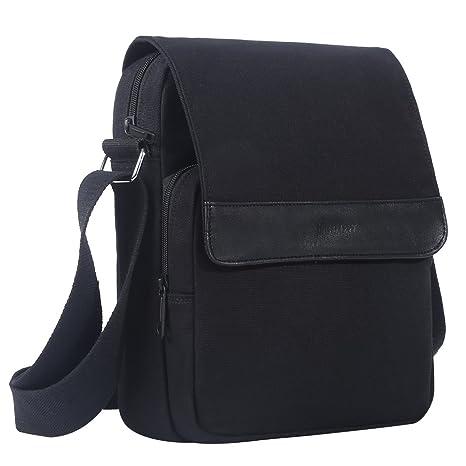 a576a8ea7a65 Image Unavailable. Image not available for. Colour: Eshow Mens Canvas Shoulder  Bag Messenger Bag Chest Bag Fanny Purse Crossbody Bag for Men Satchel
