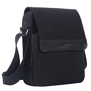 0b9282cb1b Eshow Men s Casual Canvas Flapover Crossbody Shoulder Bag Messenger Traval  Business Bag School Bookbag Daypack Bag