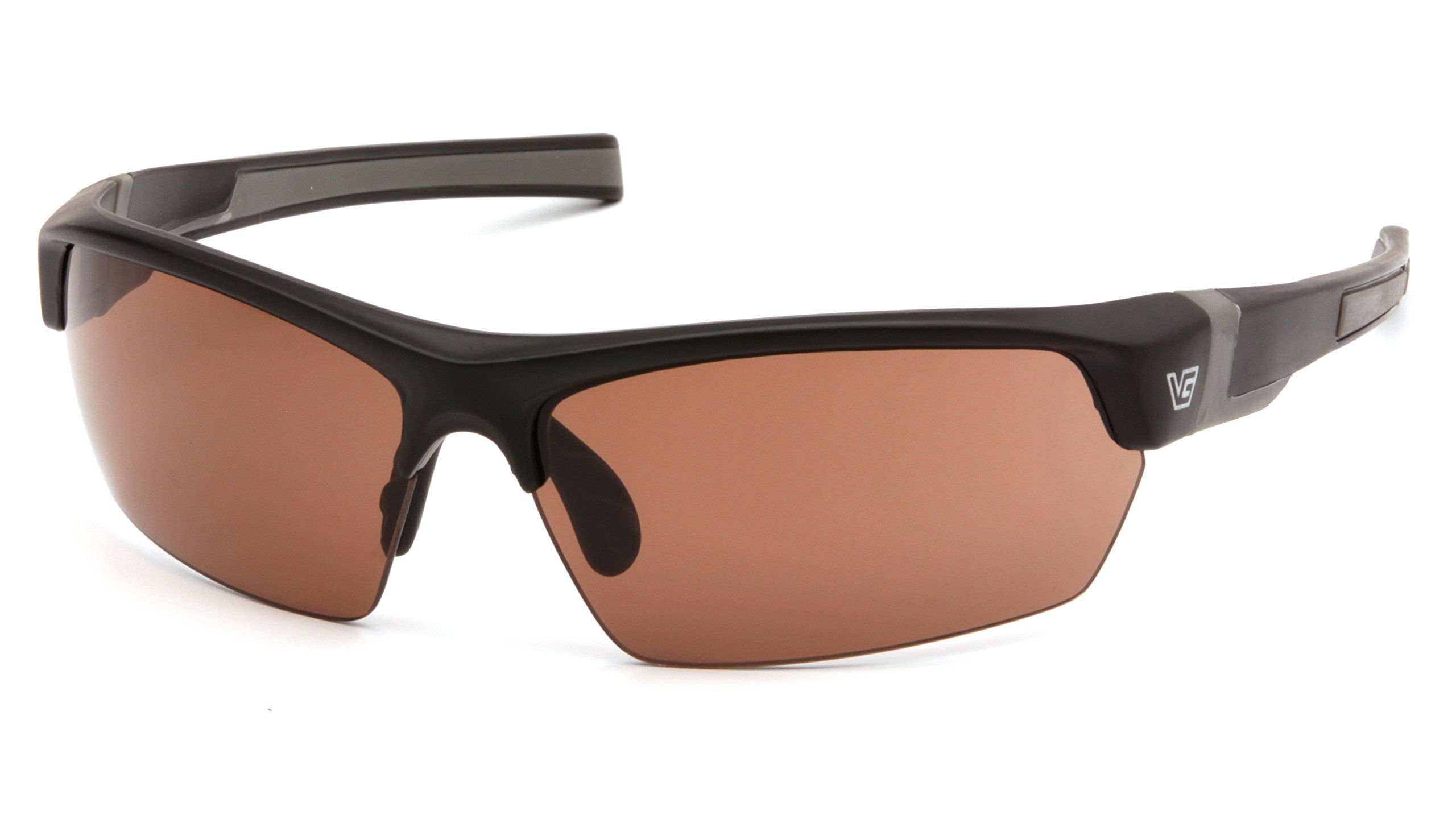 Venture Gear Tensaw Half-Frame High Performance Safety Eyewear, Black Frame, Bronze Anti-Fog Lens