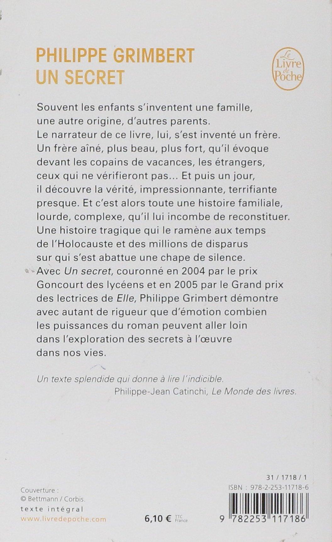 Un Secret (Ldp Litterature) (French Edition): P Grimbert, Grimbert ...