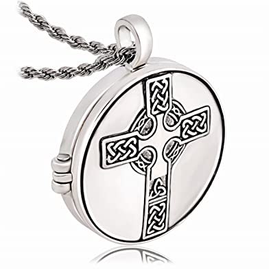 LAN27 Supernatural Myth Love Celtic Knot Symbol Cross Flower of Life