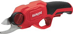 Sun Joe PJ3600C-RED Cordless Rechargeable Power Pruner, Red
