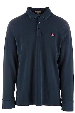 Burberry t-Shirt Hombre Manga Larga Cuello de Polo mursel BLU ...