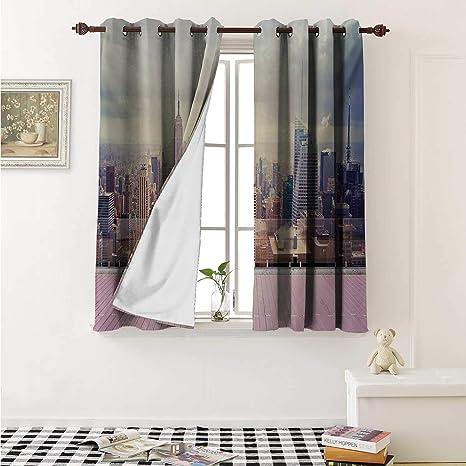 Amazon.com: Modern Blackout Draperies for Bedroom New York ...