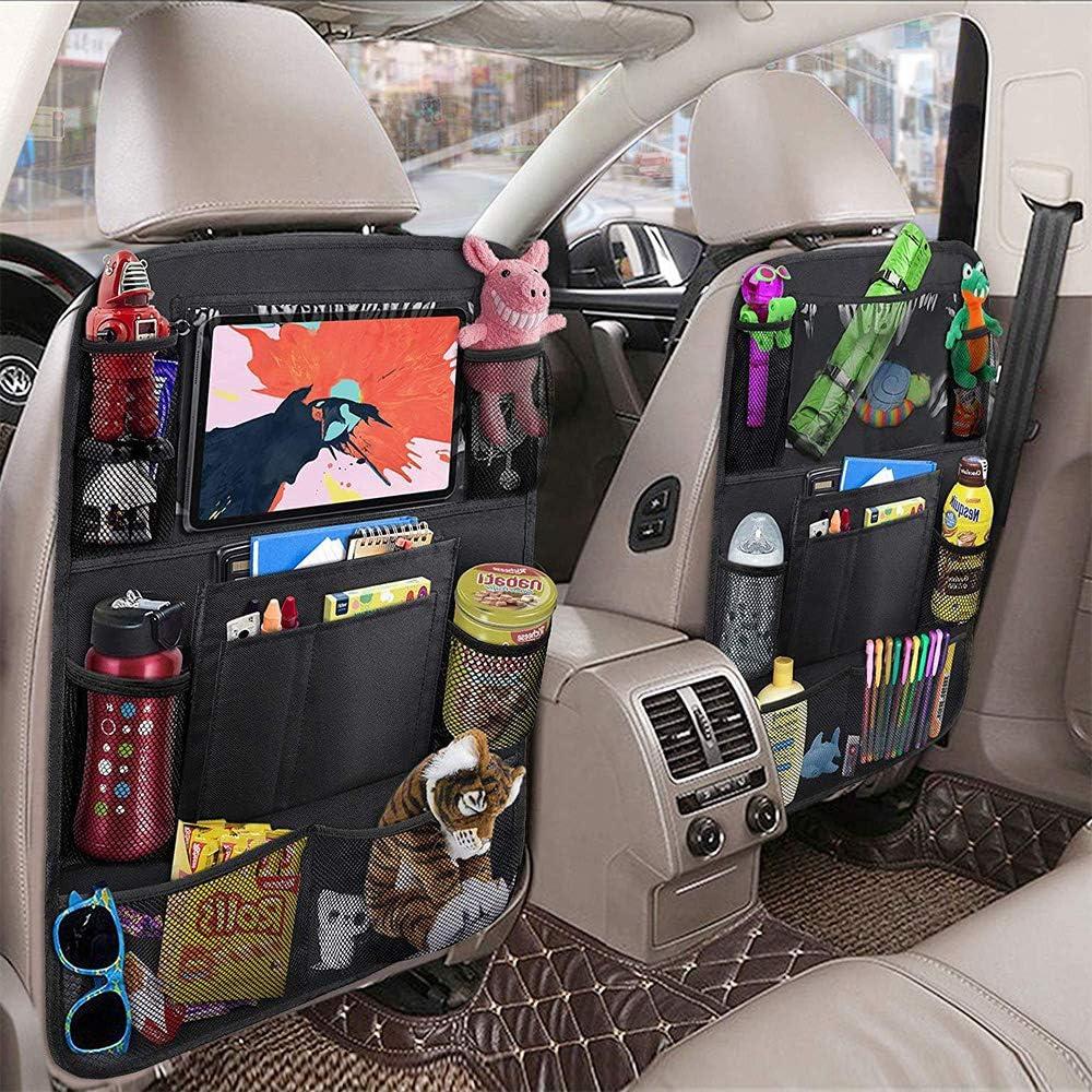 TOPVORK Car Back Seat Organizer Multi-Functional Storage Bag Backseat Vehicles Storage Organizer for Kids Toy Bottle Drink