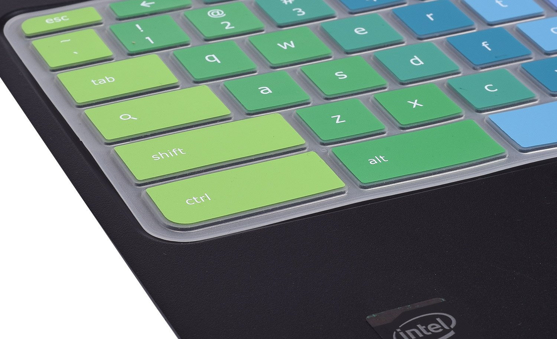 Gradual Green CaseBuy Keyboard Cover Compatible with Lenovo Chromebook C330 11.6//Flex 11 Chromebook//Lenovo 100e 300e 500e N20 N21 N22 N23 11.6 Chromebook//Lenovo N42 N42-20 14 inch Chromebook
