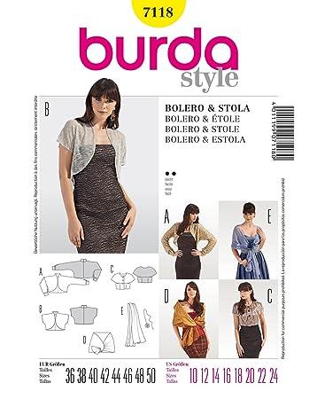 Burda Schnittmuster Bolero, Stola und Schal: Amazon.de: Küche & Haushalt