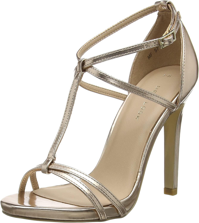 TALLA 40 EU. New Look Sanantonio 2, Zapatos con Tacon y Correa de Tobillo para Mujer