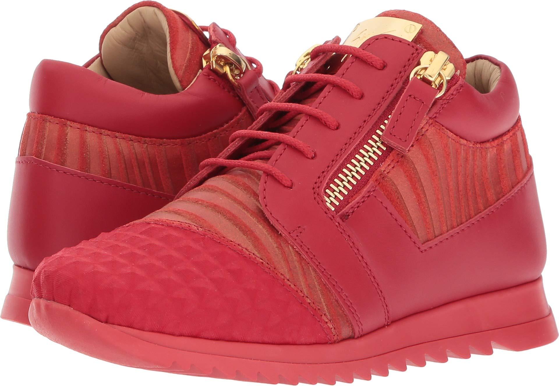 Giuseppe Zanotti Kids Unisex Stud Sneaker (Toddler/Little Kid) Red 29 M EU M