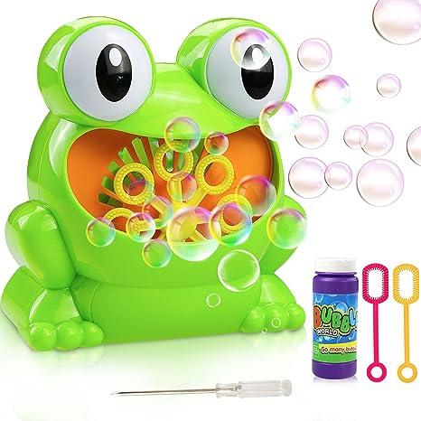 Gifort Automatic Maquina Burbujas máquina de soplado de Burbujas portátil, soplador de Burbujas Alimentado por