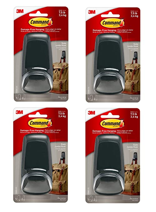 Amazon.com: Command Jumbo gancho, Pizarra: Office Products