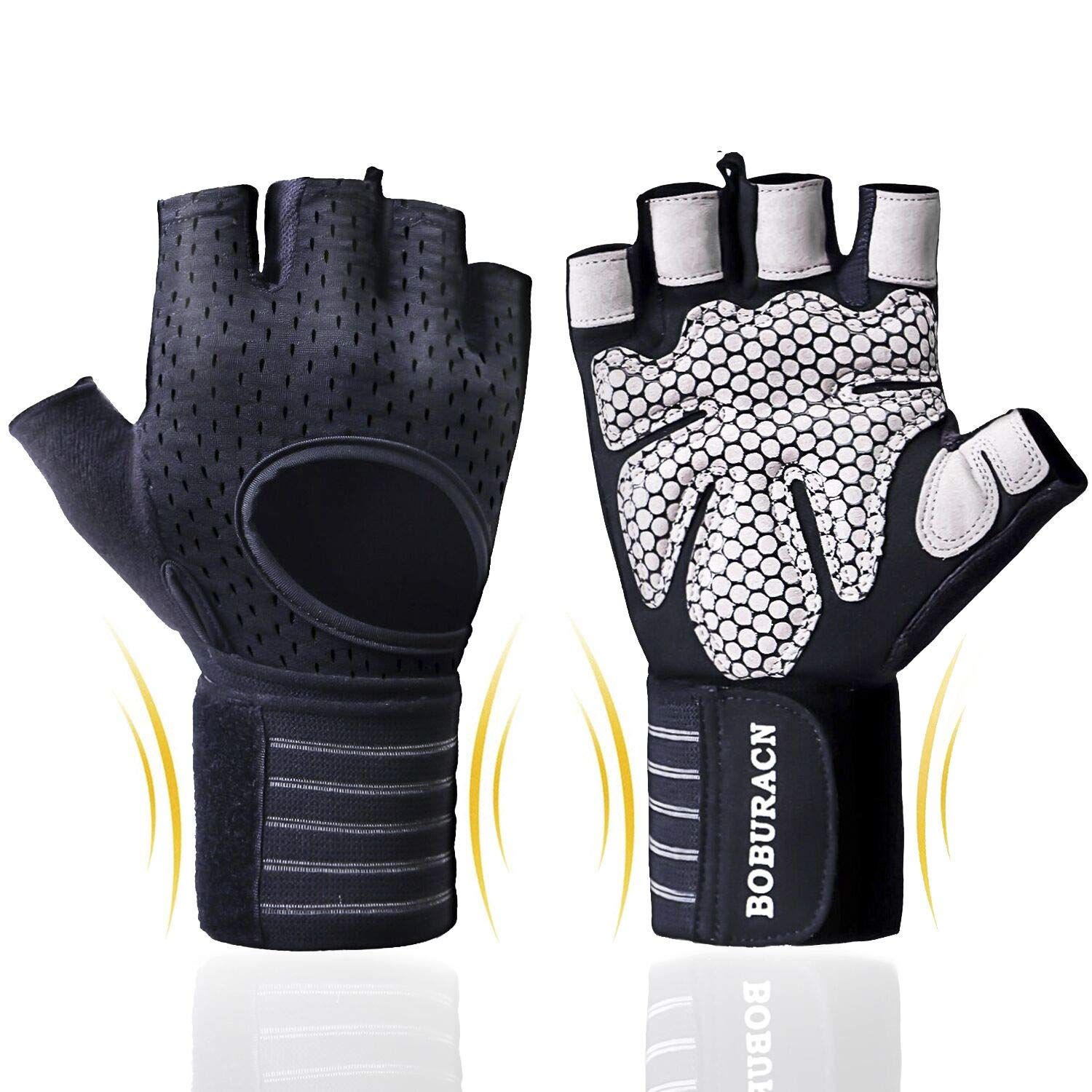 Full Palm Protection /& Extra Grip Gym Gloves for Weight Details about  /Workout Gloves