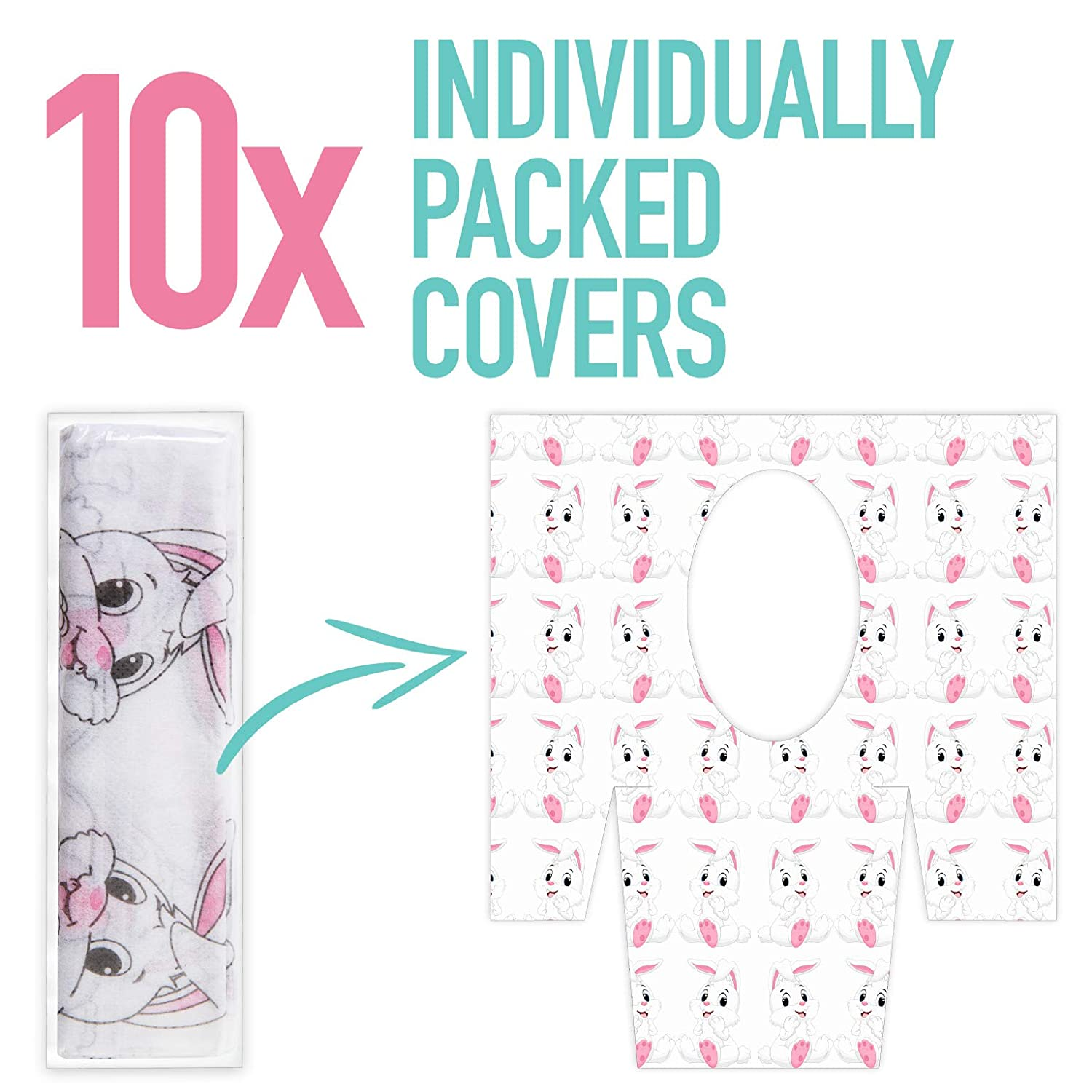 10 Units Potty Training 10 Pcs Oversize Set Home or Travel Nerry Disposable Toilet Seat Covers For Kids