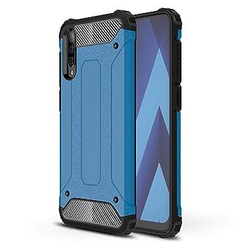 XIFAN Funda Estuche para teléfono Compatible con Samsung Galaxy A50, Armadura Robusta de Silicona a Prueba de Golpes TPU y Cubierta Dura para PC Funda ...