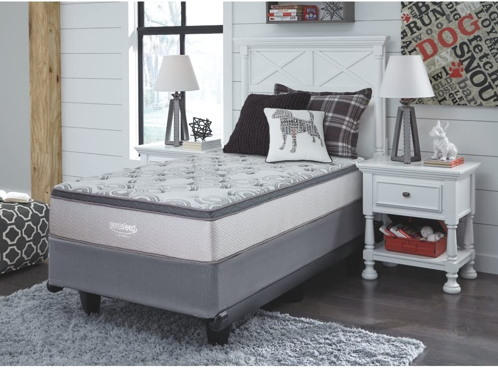 Signature Design by Ashley Augusta Bed Mattress Conventional, Twin, White