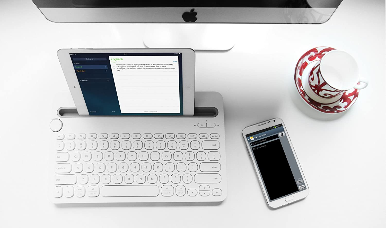 Renewed  Logitech K480 Multi Device Bluetooth Keyboard  White