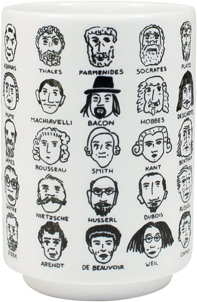 It's Hard to Get a Handle on Philosophy - Porcelain Tea Cup Featuring 60 Western Philosophers