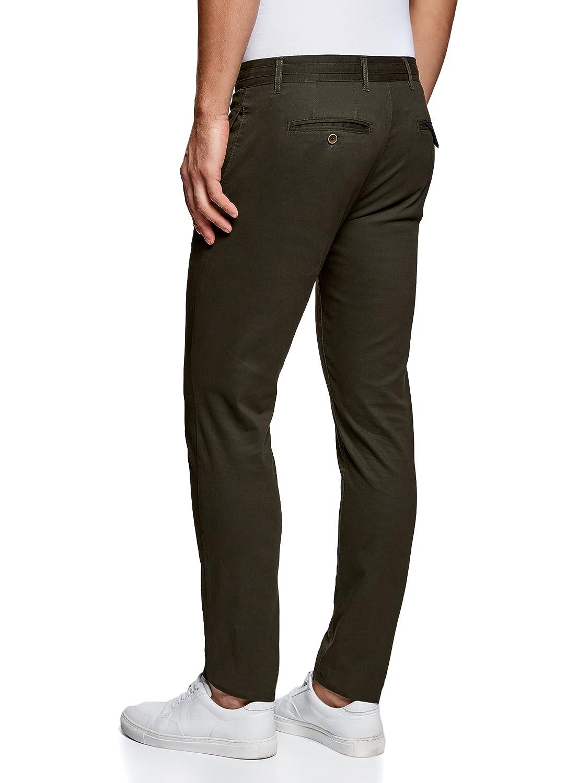 oodji Ultra Hombre Pantalones Chinos de Algod/ón