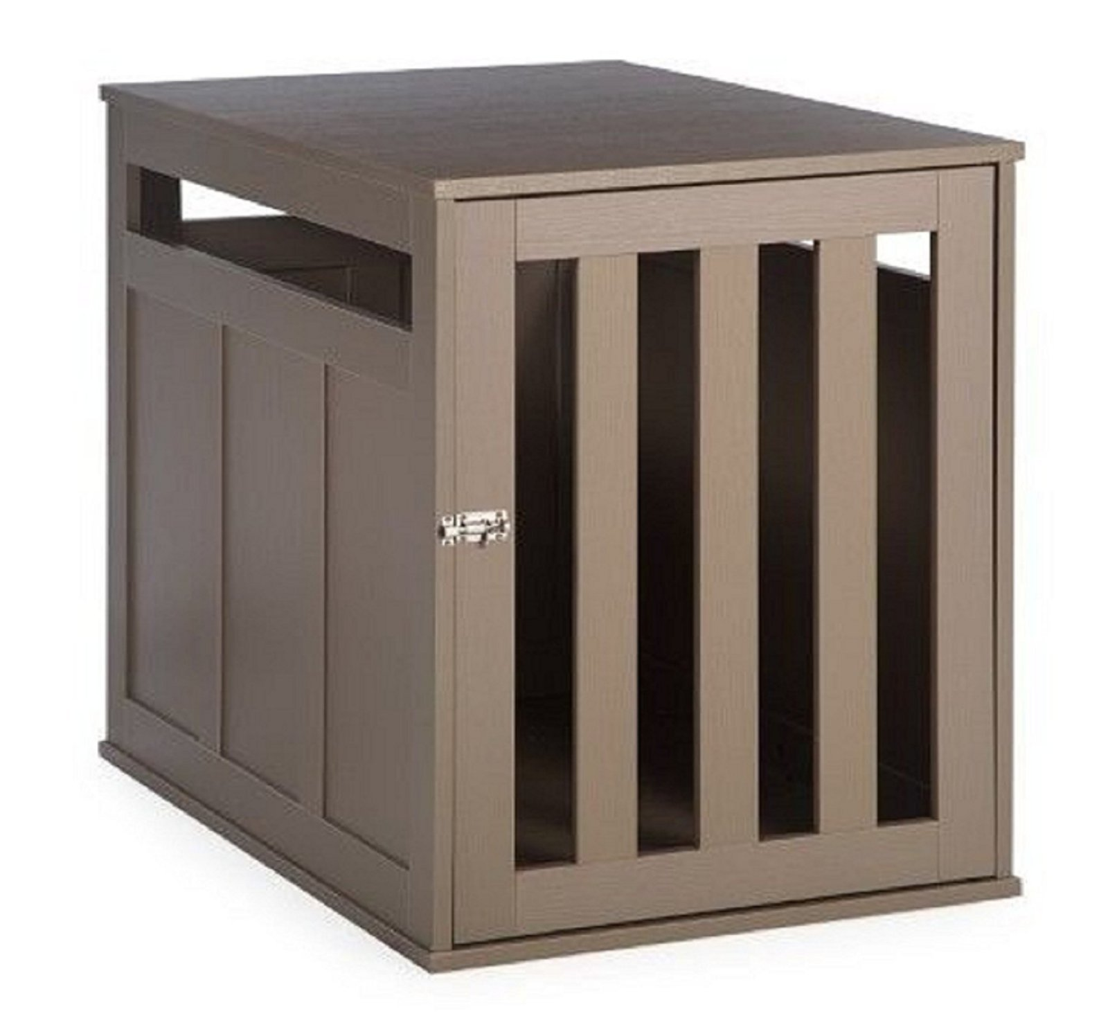 Hot Sale! End Table Dog Crate Pet Kennel Cage Wood Indoor House Driftwood Medium Home New
