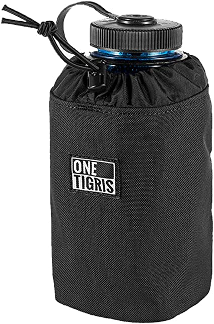 OneTigris Outdoor Botella Plana Molle Cantimplora Funda Laser-Cut Botella Carrier para 10 oz a 32 oz Carrier