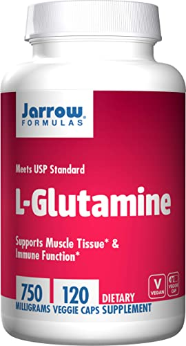 Jarrow Formulas L-Glutamine 750 mg, Supports Muscle Tissue Immune Function, 120 Caps