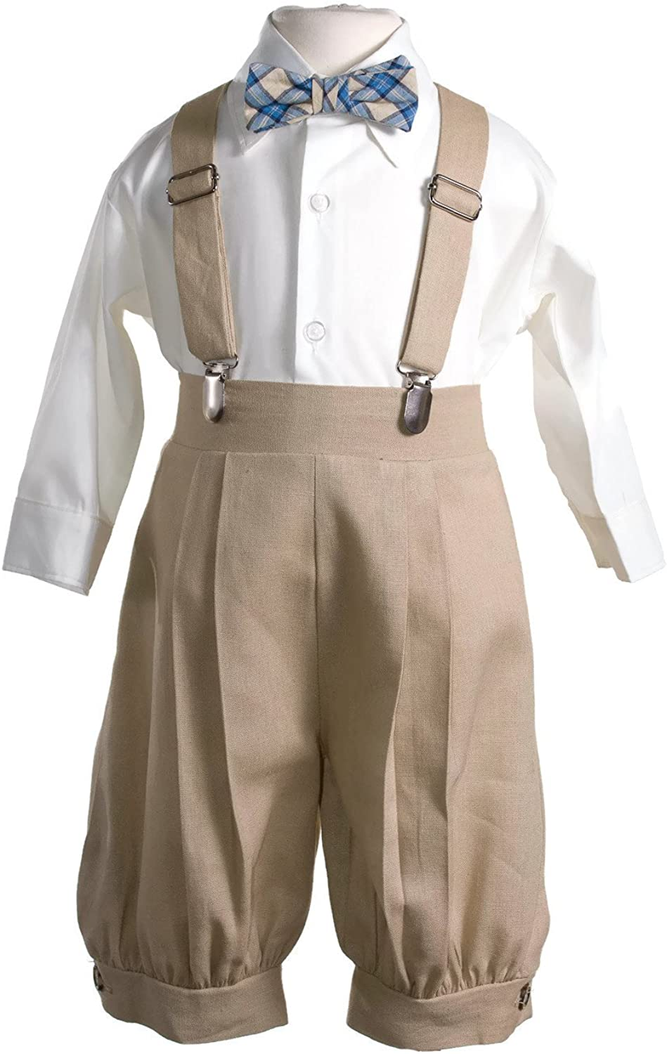 New Boys Brown Beige Ivory Knickers Vintage Suit Set Outfit Easter Christmas