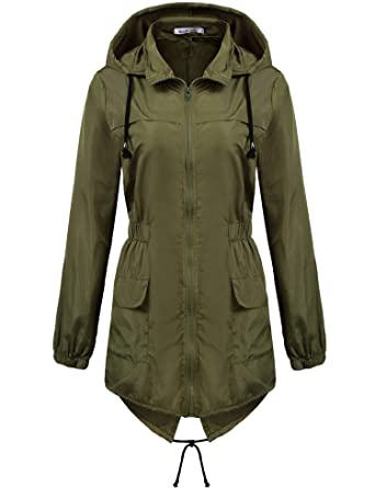 Amazon.com: Macr&Steve Womens Lightweight Hooded Waterproof Active ...