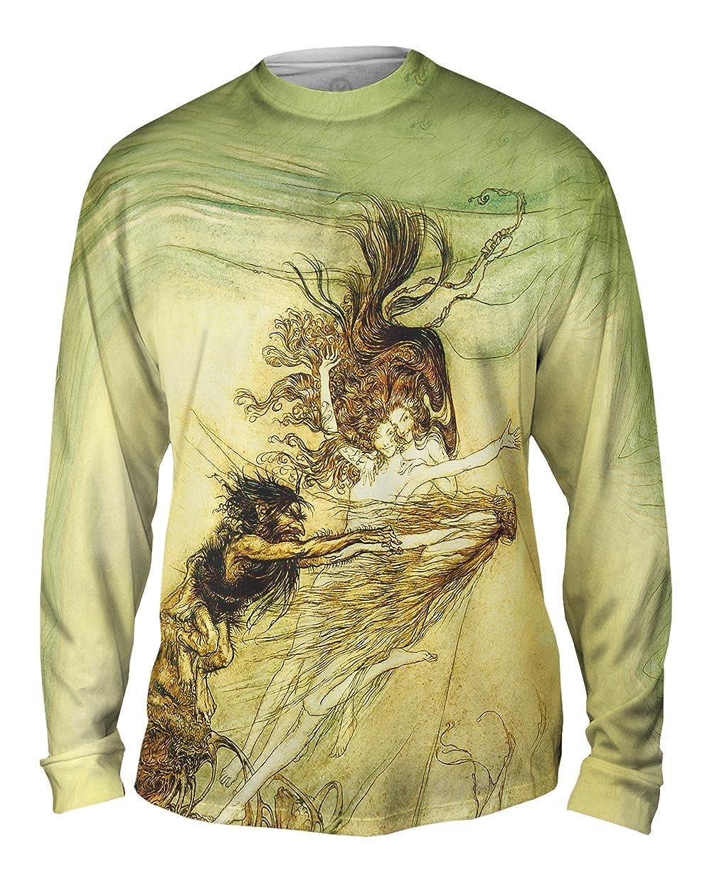 1910 Yizzam- Arthur Rackham Rhine Maidens Tease -TShirt- Mens Long Sleeve