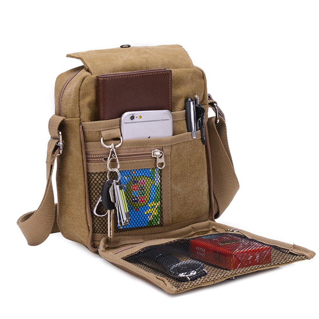 2c96c02427 Ultra moderne hommes Vintage Petit sac bandoulière en toile sac bandoulière  sac de rangement sacoche Durable Agrandir l'image