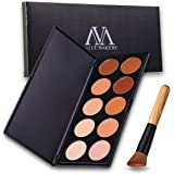 VALUE MAKERS 10 Colore Crema contorno Kit - Contour Palette - Contouring Kit - trucco Crema contorno Palette - Professional Make Up Foundation Palette - Cosmetici Tool Palette - Blemish Concealer + make up polvere Fard Foundation Brush libero (10 colori + Brush)
