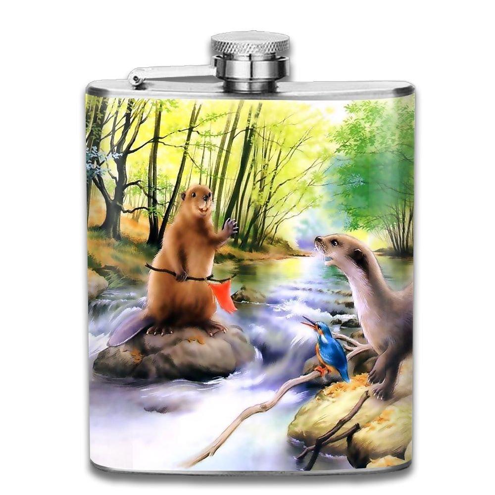 セットアップ wugouステンレススチールヒップフラスコ7オンス(no 7OZ Funnel) Beaver Say Hellowフル印刷 7OZ WU-flask-36425155-Ash-158 アッシュ Say 7OZ アッシュ B07F11CQMS, 国頭村:7840560e --- a0267596.xsph.ru