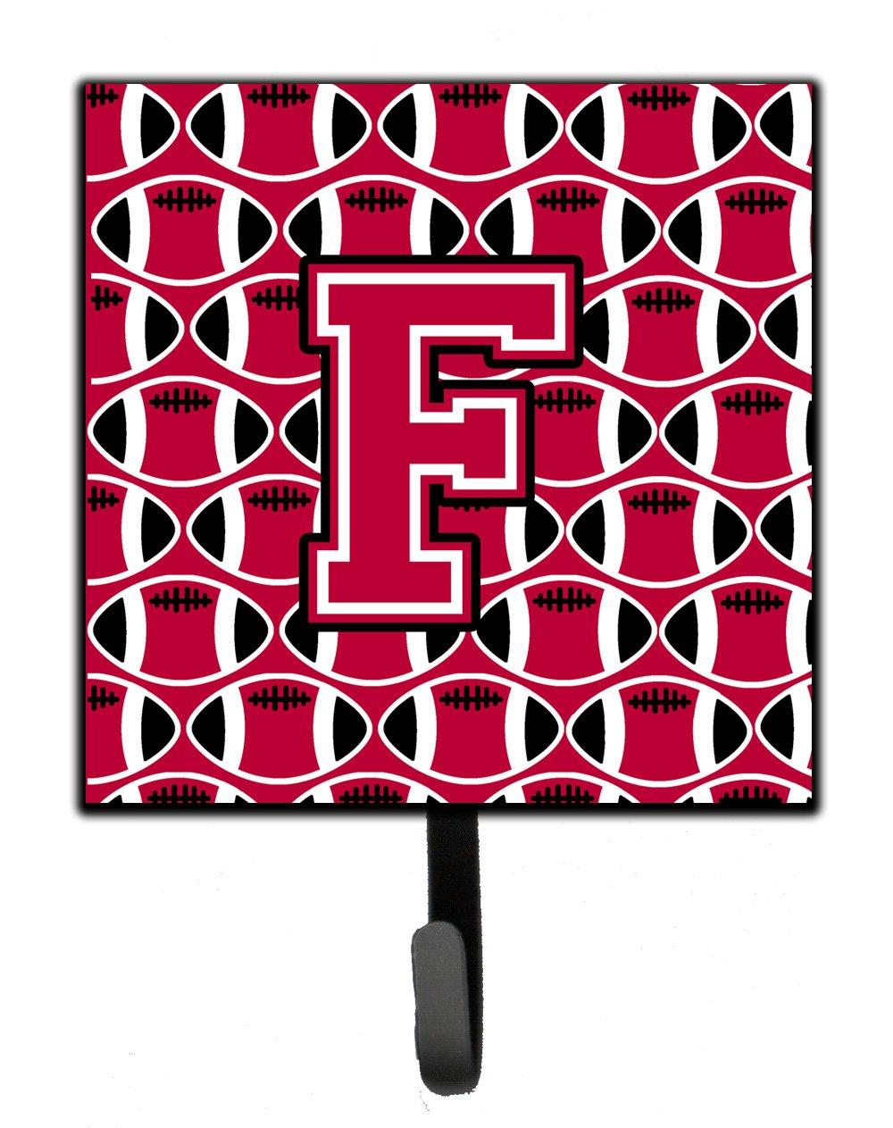 Carolines Treasures Letter F Football Crimson and White Leash or Key Holder CJ1079-FSH4 Small Multicolor