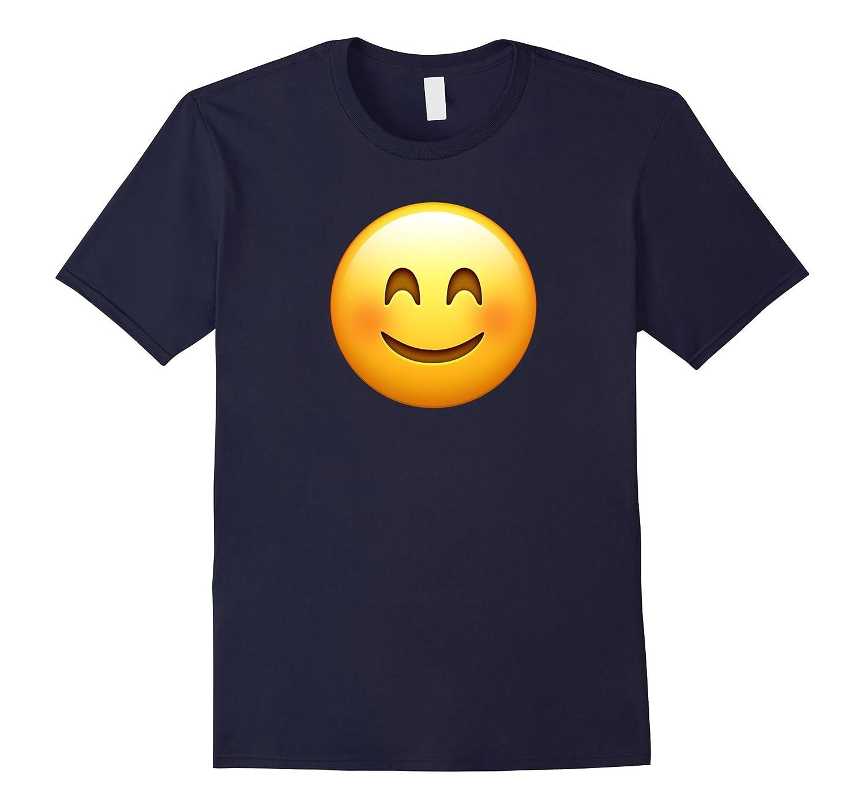 Blush Smile Face Emoji T Shirt-TJ