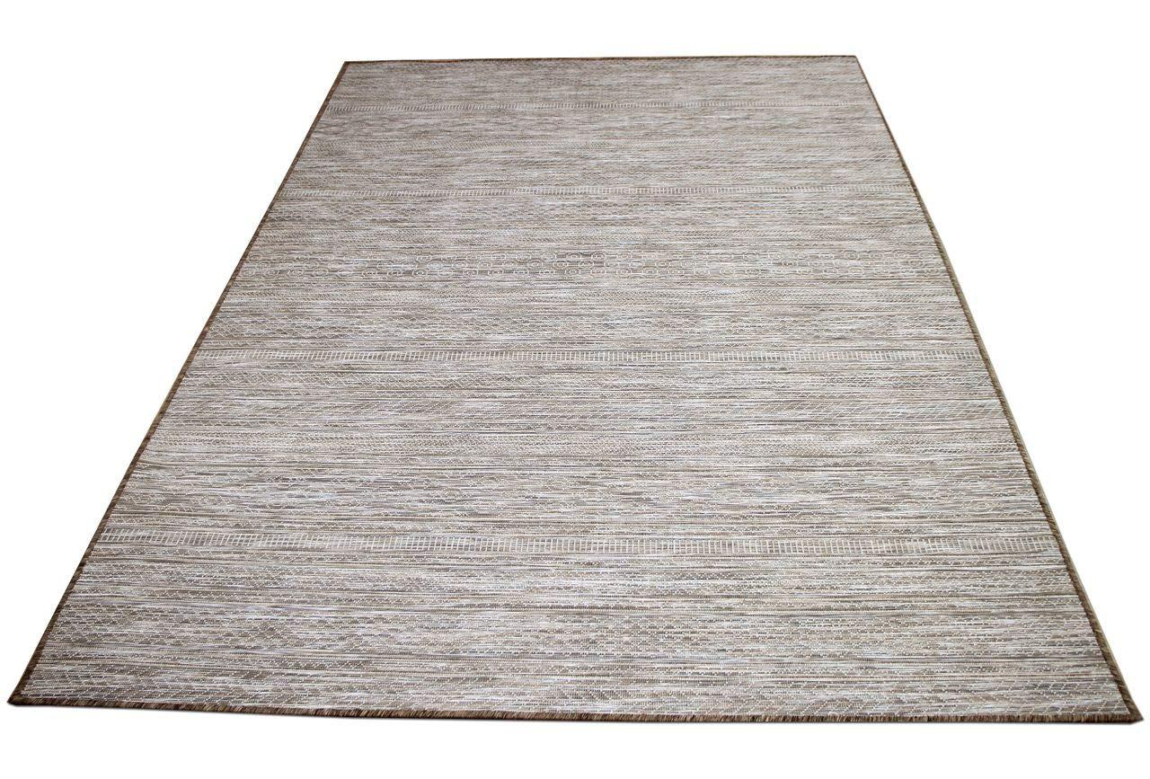 In & Outdoor Teppich Beidseitig Flachgewebe Hampton Taupe Modern in 5 Größen