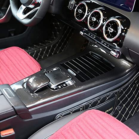 Mercedes Benz Interior >> Amazon Com Hgcar Carbon Fiber Car Center Console Cover