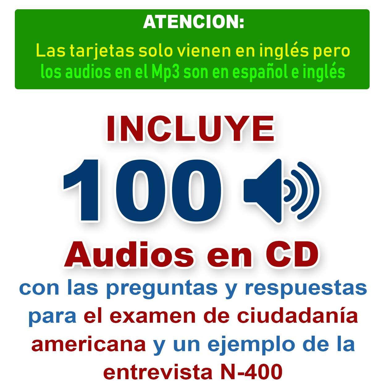 Curso de INGLES MP3 con curso de CIUDADANIA Americana, Preguntas de la Ciudadania 2019 (Incluye reproductor mp3 + 100 fichas de Ciudadania) by Ingles MP3