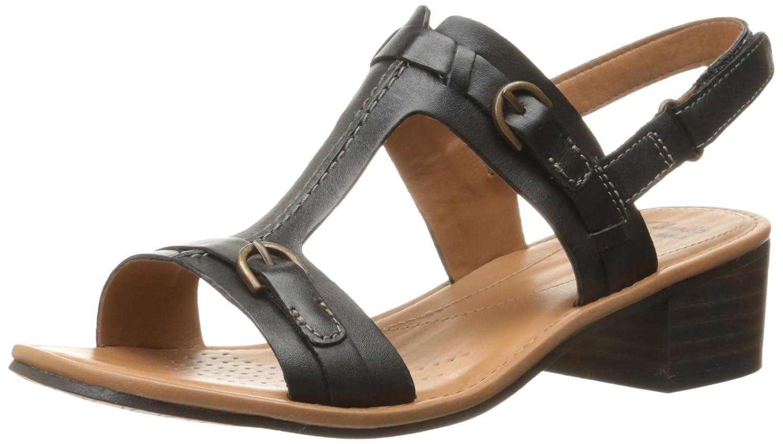 Amazon.com | CLARKS Women's Reida Madalyn Dress Sandal, Black, 8 W US |  Sandals