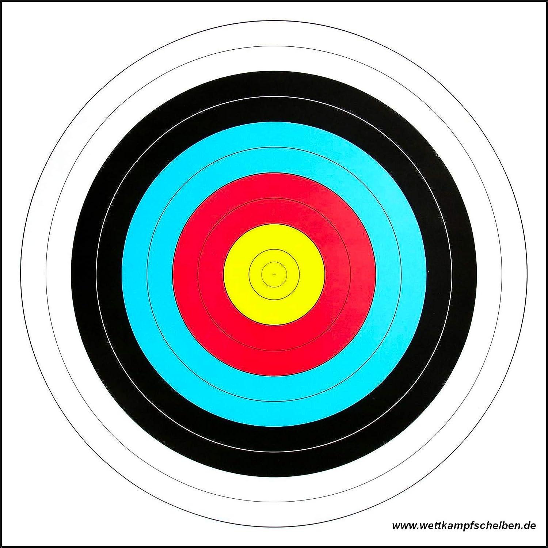 Zielscheibe Bogenschie/ßen 10x FITA Scheibenauflage Training Sportbogen Auflage 60 cm
