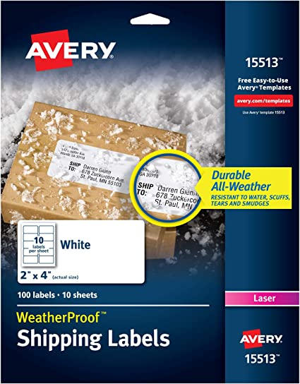 Amazon.com: Avery L7994 – Etiquetas para impresoras láser, 2 ...
