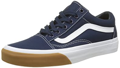 fac8733128a8ea Image Unavailable. Image not available for. Colour  Vans Unisex Adults  Old  Skool Canvas Trainers Blue ...